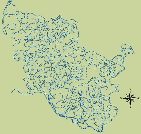 Abbildung Gewässernetz